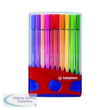 Stabilo Pen 68 Fibre Tip Assorted Pens (20 Pack) 6820-03