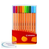 Stabilo Point 88 Fineliner Pen Assorted (20 Pack) 8820-03