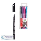 Stabilo Sensor Black Fineliner (10 Pack) FOC Pk4 Assorted SS811643
