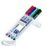 Staedtler Lumocolour Universal Pen Water Soluble Fine Assorted (4 Pack) 316-WP4