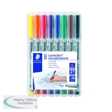 Staedtler Lumocolour Universal Pen Water Soluble Medium Assorted (8 Pack) 315-WP8