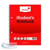 Silvine Feint Ruled Student\'s Notebook 120 Pages 229x178mm (12 Pack) 139