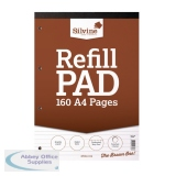 Silvine Ruled Punched Headbound Refill Pad 160 Pages A4 Pad (6 Pack) A4RPF