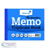 Silvine Carbonless Triplicate Memo Book 102x127mm (5 Pack) 707