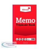 Silvine Triplicate Memo Book 210x127mm (6 Pack) 605