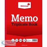 Silvine Triplicate Memo Book 254x203mm (6 Pack) 606