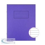 Silvine Exercise Book 229 x 178mm Ruled with Margin Purple (10 Pack) EX100