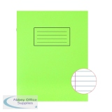 Silvine Exercise Book 229 x 178mm Ruled with Margin Green (10 Pack) EX102