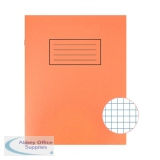Silvine Orange 229 x 178mm Exercise Book 80 Pages 5mm Squares (10 Pack) EX105