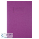 Silvine Tough Shell A4 Feint Ruled With Margin Purple Exercise Book EX140