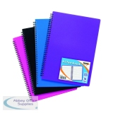 Sundry A4 Wiro Polypropylene Notebook (5 Pack) 301471