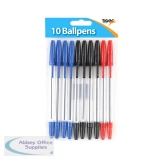 Tiger Ballpoint Pens, Black, Blue and Red (20 Pack) 302011