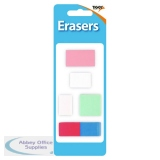 Tiger Assorted Design Erasers (60 Pack) 302022
