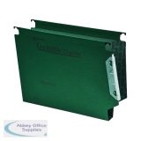 Rexel Crystalfile Classic Green 30mm Lateral File (25 Pack) 3000109