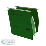 Rexel CrystalFile Extra 15mm Lateral File 150 Sheet Green (25 Pack) 70637