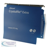 Rexel Crystalfile Extra 30mm Lateral File 300 Sheet Blue (25 Pack) 70642