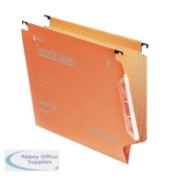 Rexel Crystalfile Classic 15mm Lateral File 150 Sheet Orange (50 Pack) 70671