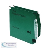 Rexel Crystalfile Classic 50mm Lateral File Manilla 500 Sheet Green (50 Pack) 71762