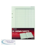 Rexel Crown 3C F9 Treble Cash Refill Sheets (100 Pack) 75849