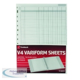 Rexel Variform V4 6-Column Cash Refill (75 Pack) 75932