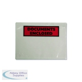 Documents Enclosed Self-Adhesive A7 Document Envelopes (Pk 1000 Pack) 4302001