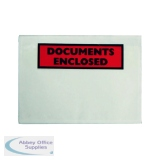 Documents Enclosed Self-Adhesive A6 Document Envelopes (100 Pack) 9743DEE02