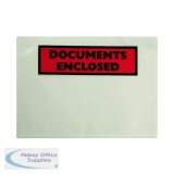 Documents Enclosed Self-Adhesive A7 Document Envelopes (100 Pack) 9743DEE01