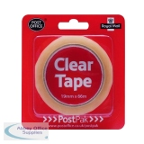 PostPak Clear Sticky Tape 19mm (12 Pack) UB70979