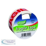 Fragile Tape 50mmx33m 1 Roll Ultra Red/White (6 Pack) FRAG-5033-UL1