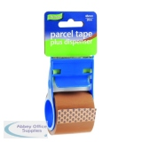 Parcel Tape and Dispenser 48mmx20m Buff (12 Pack) RT0808-48X20