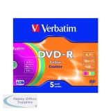 Verbatim DVD-R 16X Non-Printable Slim Case Pack of 5 43557