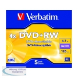 Verbatim DVD+RW 4X Pack of 5 43229