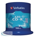 Verbatim CD-R Retail Spindle Pack of 100 43430