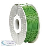Verbatim PLA 3D Printing Filament 1.75mm Green 1kg Reel 55271