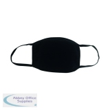 Reusable Cloth Masks 5x7in 4 Layer Cotton Black (5 Pack) SY-200425B