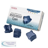Xerox Phaser 8500/8550 Cyan Solid Ink Stick (3 Pack) 108R00669